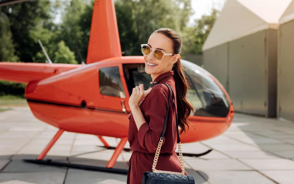 hiring a private helicopter