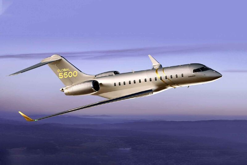 The Bombardier Global 5550 Jet Can Cruise at Mach 0.90